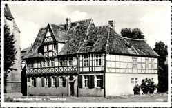 Postcard Halberstadt in Sachsen Anhalt, Blick auf das Gleimhaus, Fachwerkhaus