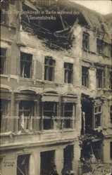 Postcard Berlin Mitte, Straßenkämpfe während des Generalstreiks,Spartakusaufstand,1919