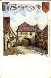 Künstler Litho Biese, C., Sulzburg im Breisgau Hochschwarzwald, Wappen, Tor