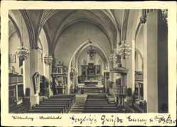 Ak Lutherstadt Wittenberg in Sachsen Anhalt, Innenansicht der Stadtkirche