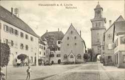 Postcard Neuenstadt an der Linde, N. am Kocher, Marktplatz, Tor, Straßenpartie