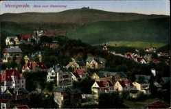 Postcard Wernigerode am Harz, Blick vom Blumenweg auf den Ort