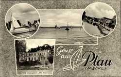 Postcard Luftkurort Plau am See, Plauer See, Strandstraße, FDGB Erholungsheim