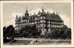 Postcard Güstrow im Kreis Rostock, Blick auf das Schloss, Landesaltersheim