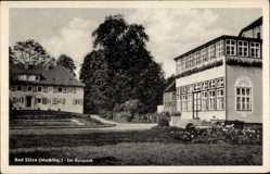 Postcard Bad Sülze in Mecklenburg Vorpommern, Partie im Kurpark, Kurhaus
