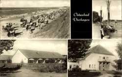 Postcard Ostseebad Dierhagen, Strandpartie, Segelboote, Haus Moritz Arndt