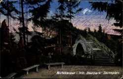 Postcard Mühlhausen im Thüringer Unstrut Hainich Kreis, Seumeplatz, Stadtpark, Brücke