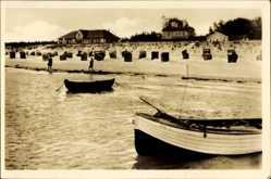 Postcard Prerow Darß Ostsee, Partie am Strand mit Dünenhaus