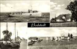 Postcard Bodstedt Fuhlendorf Vorpommern, Dampfer, Fischerhaus