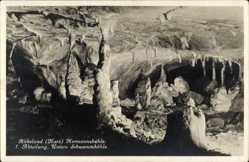 Postcard Rübeland Oberharz am Brocken, Hermannshöhle, 1. Abt., Untere Schwemmhöhle
