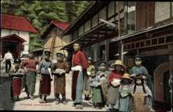 Ak Japanese Schoolboys, Kinder in Landestracht, Japaner