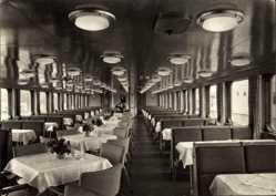 Postcard Weiße Flotte Berlin, Luxusfahrgastschiff, Gesellschaftssalon