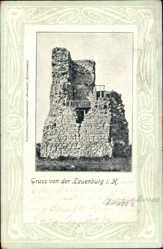 Postcard Stecklenburg Thale im Harz, Partie an der Ruine Lauenburg