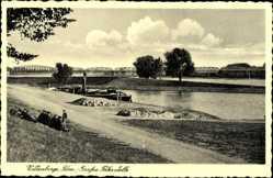 Postcard Wittenberge in der Prignitz, Partie an der großen Fährstelle