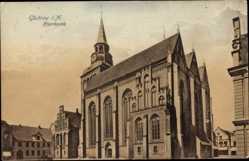 Postcard Güstrow im Kreis Rostock, Außenansicht der Pfarrkirche