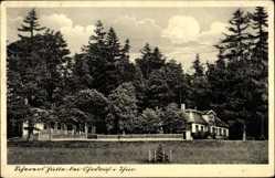 Postcard Ohrdruf in Thüringen, Blick auf die Scherers Hütte, Hermann Meister