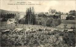 Postcard Georgenthal im Tal der Apfelstädt, Villenpartie am Schwimmbachtal
