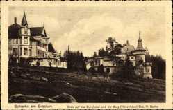 Postcard Schierke Wernigerode am Harz, Burghotel und Burg, R. Stolba