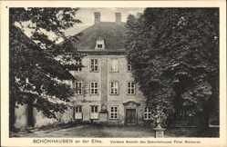 Postcard Schönhausen a.d. Elbe, Vordere Ansicht des Geburtshauses Fürst Bismarcks