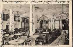 Postcard Magdeburg in Sachsen Anhalt, Schloß Café, Gebr. Loburg, Breiteweg 30
