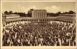 Postcard Magdeburg in Sachsen Anhalt, Theaterausstellung 1927, Platzkonzert