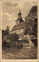 Postcard Bad Berka im Weimarer Land Thüringen, Pfarrei und Kirche