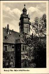Postcard Ohrdruf im Thüringischen Kreis Gotha, Hof im Schloss Ehrenstein