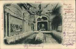 Postcard Magdeburg in Sachsen Anhalt, Cafe Hohenzollern, Innenansicht, Prunksaal