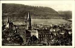 Postcard Heilbad Heiligenstadt in Thüringen, Stadtansicht, Liebfrauenkirche, Wald