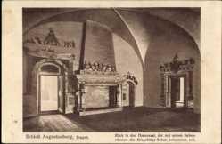 Postcard Augustusburg im Erzgebirge, Schloss, Blick in den Hasensaal