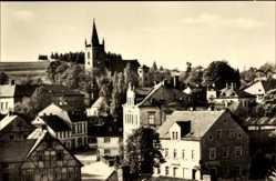 Postcard Eppendorf im Kreis Mittelsachsen, Blick auf den Ort, Kirche, Häuser