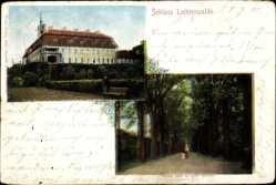 Postcard Lichtenwalde Niederwiesa im Kreis Mittelsachsen, Blick auf das Schloss