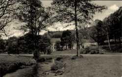 Postcard Nassau Frauenstein im Erzgebirge, Partie an der Mulde, Häuser