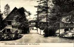 Postcard Freiberg Sachsen, HO Gaststätte Schrödermühle, Straßenpartie