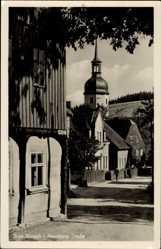 Postcard Sosa Eibenstock im Erzgebirge Sachsen, Blick in die Auersberg Straße