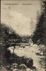 Postcard Johanngeorgenstadt im Erzgebirge Sachsen, Partie im Schwarzwassertal
