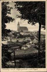 Postcard Neustädtel Schneeberg im Erzgebirge, St. Wolfgangkirche, Ort