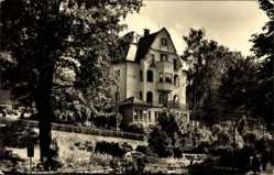 Postcard Bad Elster im Vogtland, Blick auf das Haus Idylle, Seitenansicht