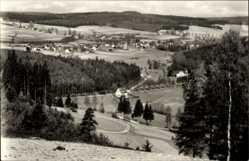 Postcard Sohl Bad Elster im Vogtland, Totalansicht der Ortschaft, Felder