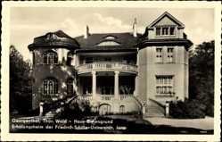 Postcard Georgenthal im Tal der Apfelstädt Thüringen, Erholungsheim der FSU Jena