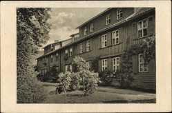 Ak Drübeck Ilsenburg am Nordharz, Blick auf das Kloster, Fassade
