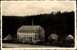 Postcard Hammerleubsdorf Leubsdorf im Kreis Mittelsachsen, Gasthof Richard Baumann