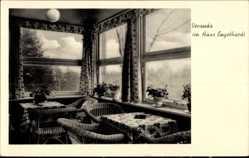 Ak Altenbrak Thale im Harz, Veranda im Haus Engelhardt