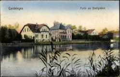 Ak Gardelegen im Altmarkkreis Salzwedel, Villen am Stadtgraben, Schilf
