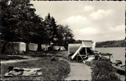 Postcard Langenhessen Werdau an der Pleiße, Kobertalsperre, Campingplatz