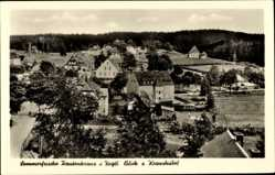 Postcard Morgenröthe Rautenkranz Muldenhammer im Vogtland, Blick zum Kraushübel