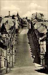 Postcard Meerane in Sachsen, Bergstraße genannt Steile Wand