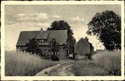 Ak Mützel Genthin am Elbe Havel Kanal, Landschulheim der Goethe Schule Magdeburg