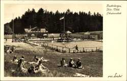 Postcard Finsterbergen Friedrichroda Thüringen, Partie im Schwimmbad, Liegewiese