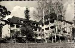 Postcard Bad Elster im Vogtland, Kurheim der Reichsbahn, Fassade